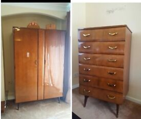 HOUSE CLEARANCE. TV UNIT WARDROBE NIGHTSTANDS DRAWERS TV TALLBOY