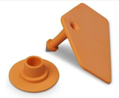 Allflex Global Hog Ear Tags With Buttons Orange Blank 25ct Pkg