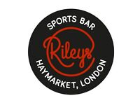Bartenders and Wsitress WANTED NOW at Sports Cafe 80 Haymarket London