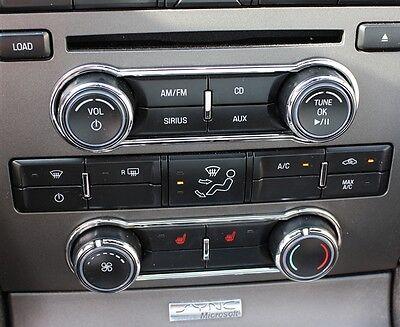 2010-2012 Mustang Gt Ac Knob - Radio Bezel Set Main Display Bezel - Chrome