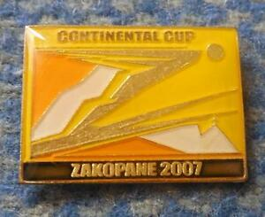 CONTINENTAL CUP SKI FLYING JUMPING POLAND ZAKOPANE 2007 PIN BADGE - <span itemprop='availableAtOrFrom'>Wroclaw, Polska</span> - CONTINENTAL CUP SKI FLYING JUMPING POLAND ZAKOPANE 2007 PIN BADGE - Wroclaw, Polska