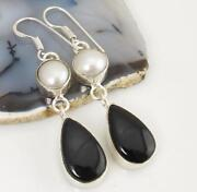 Sterling Silver Black Onyx Earrings