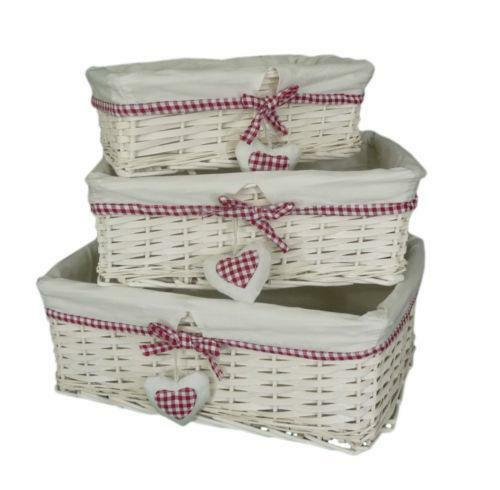 Wicker Storage Baskets Ebay