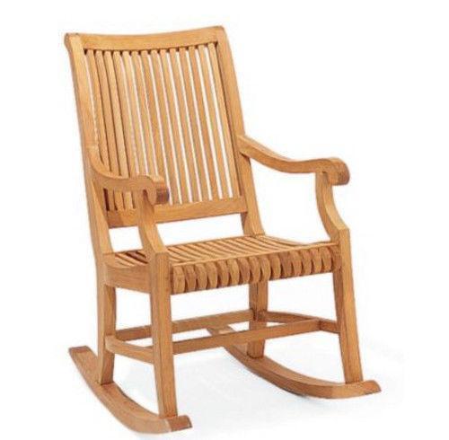Teak Rocking Chair EBay