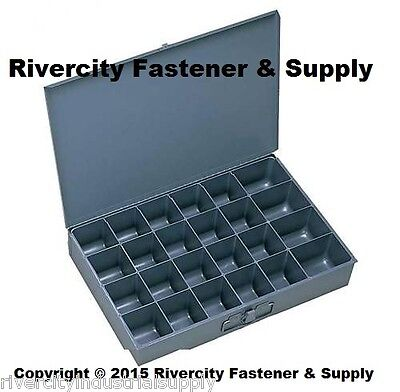 2 Large Metal 24 Hole Storage Bin Tray For Nuts Bolts