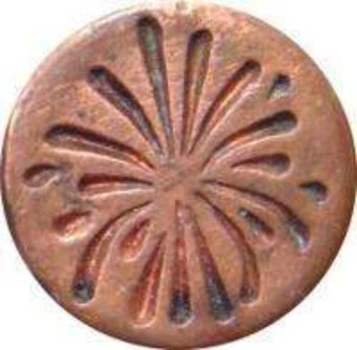 "Fireworks Wax Seal Stamp (3/4"" diameter seal, hardwood handle) IRREGULAR"