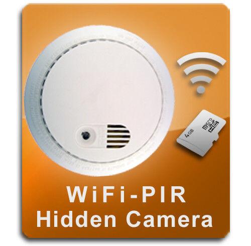 PalmVID WiFi-PIR Smoke Detector Hidden Camera Spy Camera wit