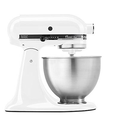 مضرب كهربائي جديد NEW & SEALED! KitchenAid KSM75WH 4.5-Qt. Classic Plus Stand Mixer, (White)