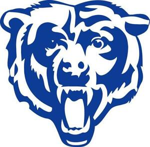 Chicago Bears Decal FootballNFL EBay - Window stickers for cars chicago