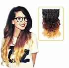 Ombré Clip - In Wavy Hair Extensions