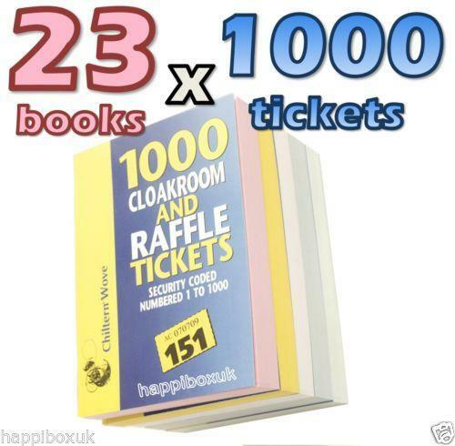 raffle tickets ebay