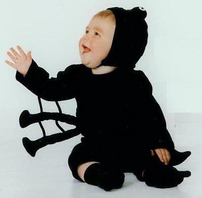 NEW 100% Cotton Harrison's SPIDER  Infant Baby Halloween Costume 0-6Mos NWT - Spider Baby Costume
