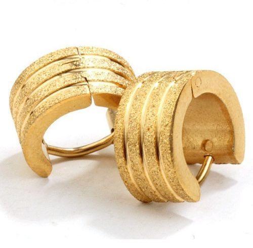 Mens Gold Hoop Earrings