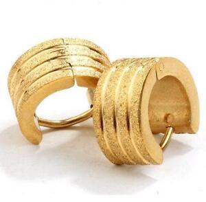 Men S Gold Hoop Earrings