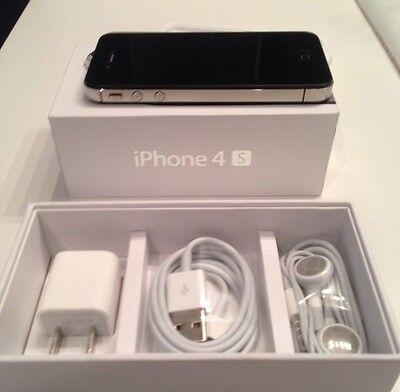 NEW APPLE iPhone 4S 32GB FACTORY UNLOCKED BLACK SMARTPHONE