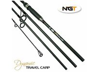 NGT Carp Travel Rod Dynamic 11ft 4 Pc Fishing Rod Carbon