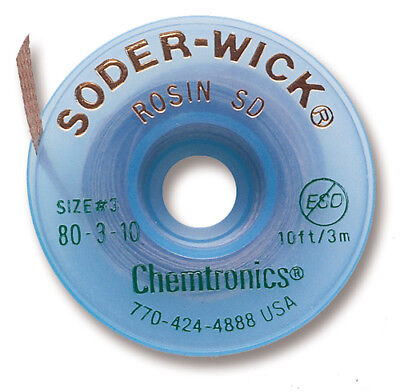 Chemtronics 80-3-10 Soder-wick Rosin Sd Desoldering Braid