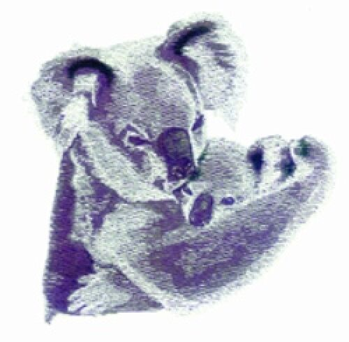 Embroidered Fleece Jacket - Koala Pair BT3648 Sizes S - XXL