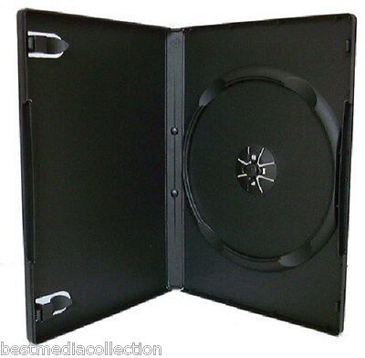 10 Single BLACK Color 14 mm Standard High Quality Empty DVD CASES Free Shipping