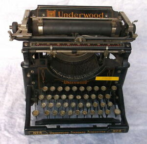 VINTAGE UNDERWOOD STANDARD TYPEWRITER NO 6 1927