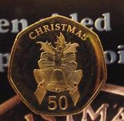 50 Pence Coin Christmas