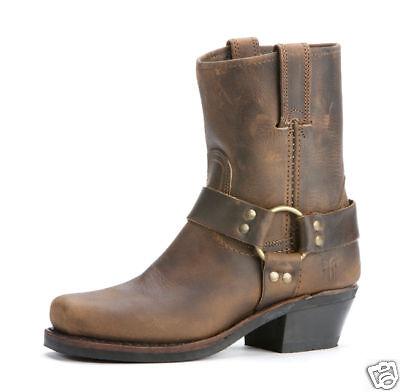 Women's Frye Boot 77455 TAN Short Harness 8R -