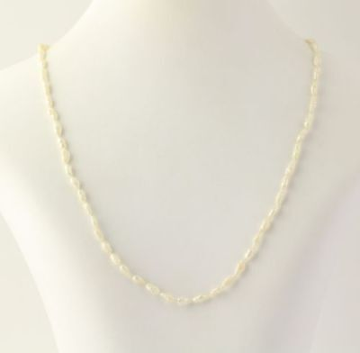 Freshwater Keshi Pearl Strand Necklace - 14k Yellow Gold Women's Fine 18.5