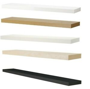 Ikea lack wall floating shelf shelves display 110cm x 26 for Mensole ikea lack