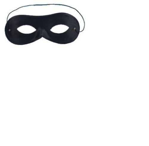 BLACK DOMINO EYE MASK ROBBER BANDIT SUPERHERO EYE MASK FOR FANCY DRESS
