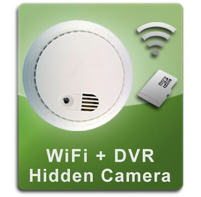 PalmVID WiFi Smoke Detector Hidden Camera Spy Camera with Adjustable View Color Smoke Detector
