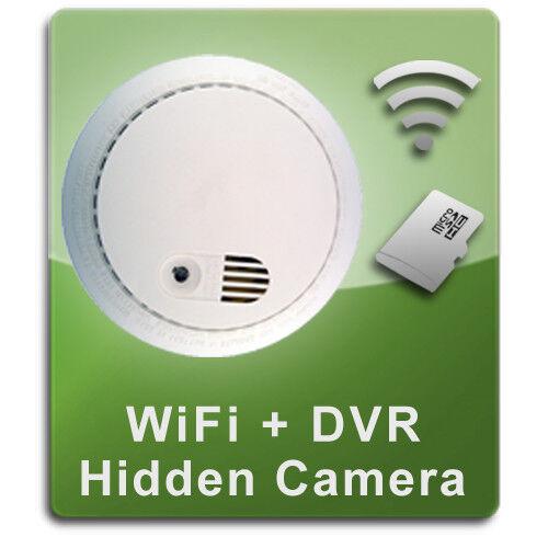 PalmVID WiFi Smoke Detector Hidden Camera Spy Camera with Ad