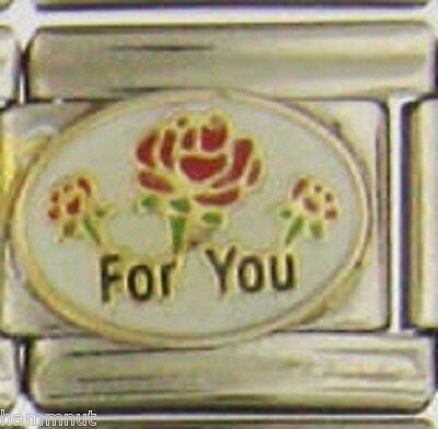 FOR YOU  FLOWERS  STYLE 20  WHOLESALE ITALIAN CHARM 9MM (Style For You)