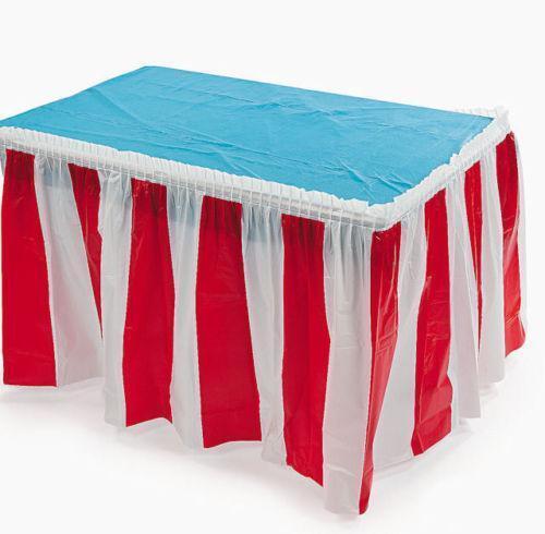 Red White Stripe Tablecloth Ebay