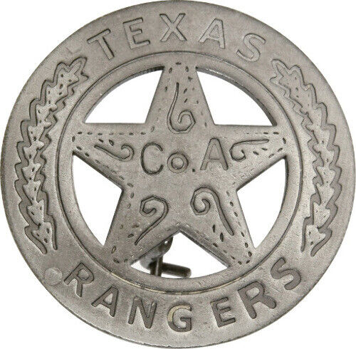 """Badges Of The Old West Texas Rangers Badge MI3011 Measures approximately 1 5/8"""""""