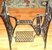 Antique sewing machine table ebay antique sewing machine base sciox Choice Image