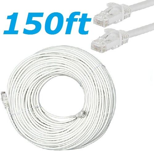 CAT6 RJ45 150FT Ethernet LAN Network Cable Patch Cord For PC Modem Router White Computers/Tablets & Networking
