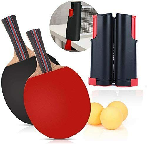 Ping Pong Tabletop Tennis Net & Post Set Anywhere Retractable Table Tennis Set~