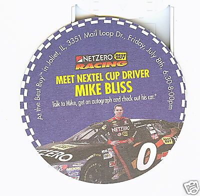 3 1 2 Inch Netzero Coaster        Nextel Cup Driver Mike Bliss