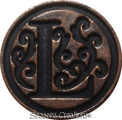 "Initial L Wax Seal Stamp - 3/4"" diameter seal, 1 stick Red Wax - Last One!"