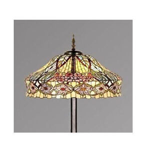 TIFFANY STYLE FLORAL STAINED GLASS HANDCRAFTED FLOOR LAMP  sc 1 st  eBay & Stained Glass Lamp | eBay
