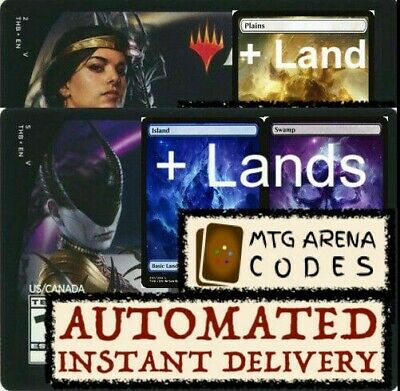 MTG MAGIC Arena code card Planeswalker Deck Theros Ashiok Elspeth +LANDS INSTANT