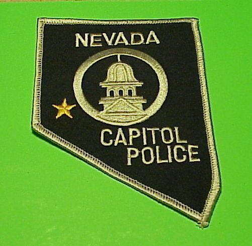 NEVADA  CAPITOL POLICE  NV  ( STATE SHAPE ) POLICE DEPT. PATCH  FREE SHIPPING!!!