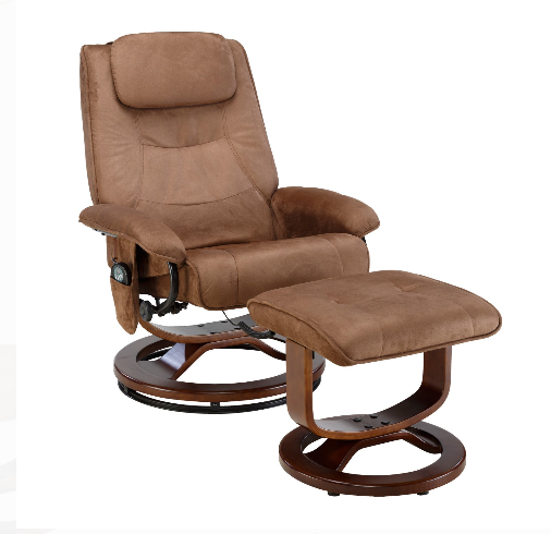 Recliner Chair With Ottoman Massage Heat Reclining Lounger F