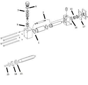 25M460 A-Side 80 Pump Rebuild Kit, Complete Graco, PMC, Gusmer