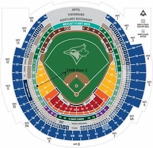 Blue Jays All Season - Section 234R Row 1 Aisle - 4 Seats