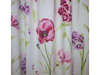 Ellie red/lilac/cream curtain, cushion, craft fabric. 90 wide