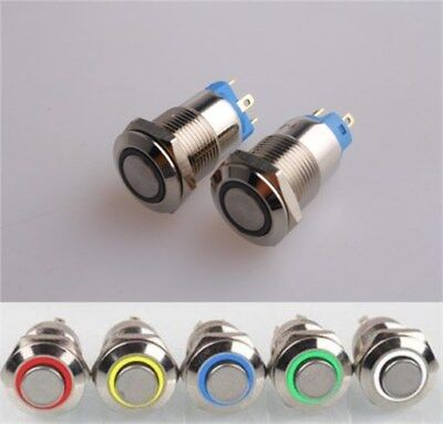 12mm Latching 4 Pin Led Lamp Metal Push Button Switch Waterproof 3v6v