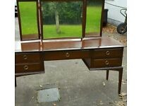 Stag dressing table mirrors drawers dovetailed joints vintage