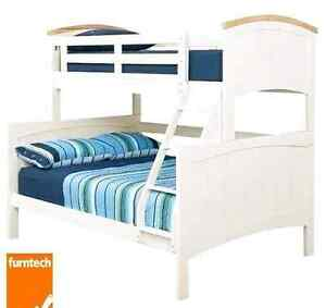 Tri bunk bed 10 months old with mattresses rrp $1800 Blue Haven Wyong Area Preview