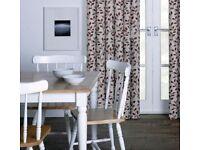 "Pencil Pleat Curtains - Olive Leaf Jacquard - NEW - 90""x 90"""